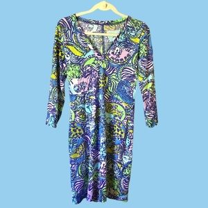 Lilly Pulitzer Cotton Cat & Tiger Dress